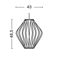 Bubble pear crisscross m george nelson suspension pendant light  hay 936362  design signed nedgis 104901 thumb