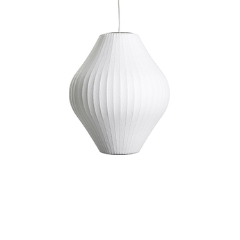 Suspension bubble pear m blanc o43cm h48 5cm hay normal
