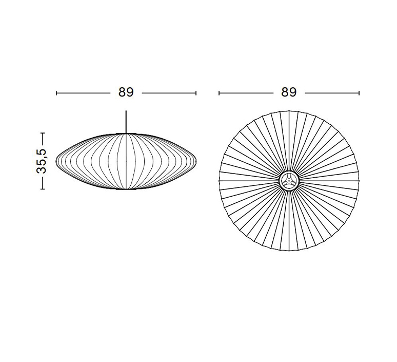 Bubble saucer l george nelson suspension pendant light  hay 936341  design signed nedgis 104949 product