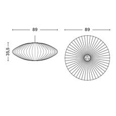 Bubble saucer l george nelson suspension pendant light  hay 936341  design signed nedgis 104949 thumb