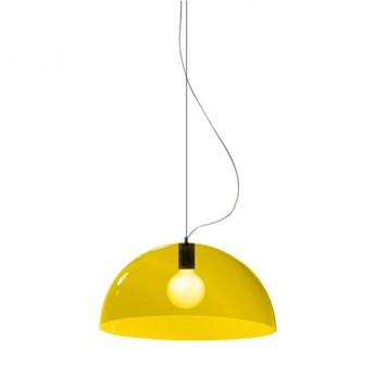 Suspension bubbles jaune o45cm martinelli luce normal