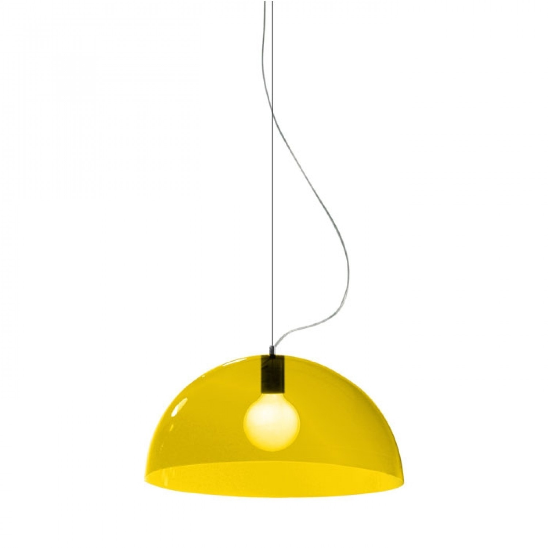 suspension bubbles jaune 45cm martinelli luce luminaires nedgis. Black Bedroom Furniture Sets. Home Design Ideas