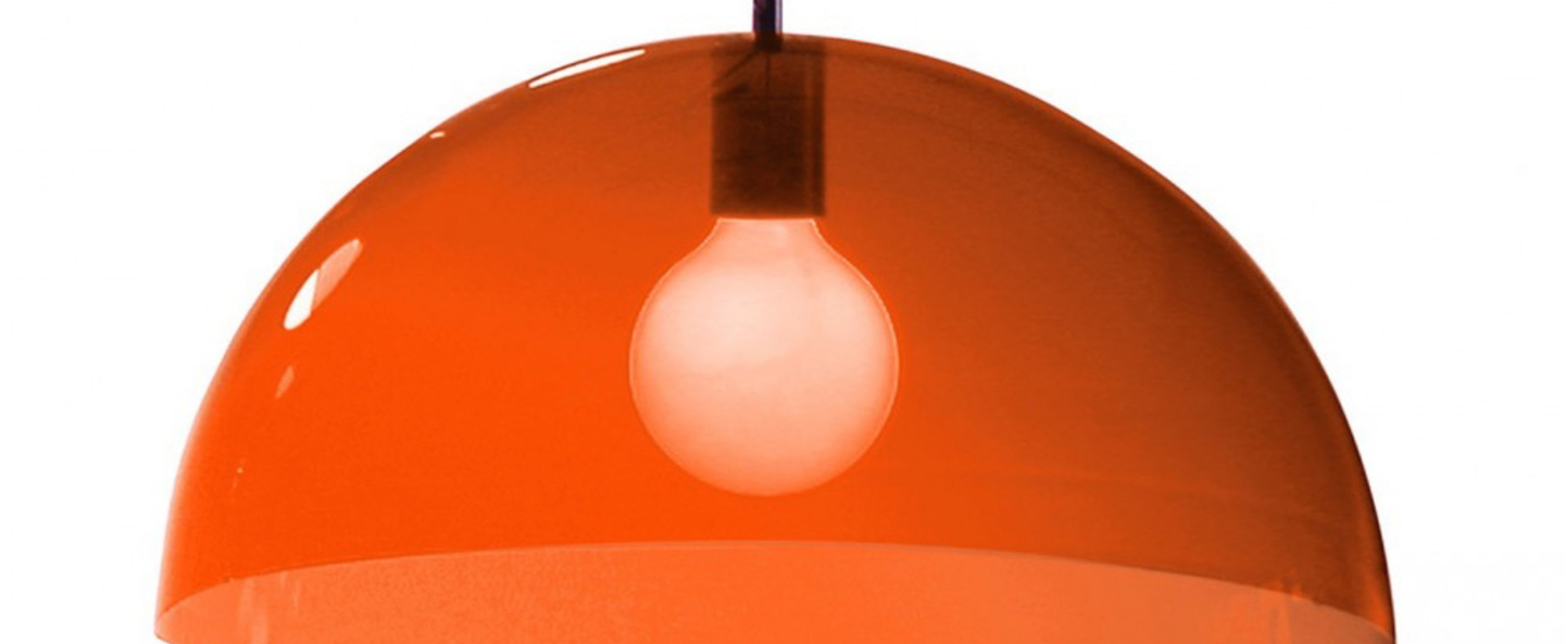 Suspension bubbles orange o45cm martinelli luce normal
