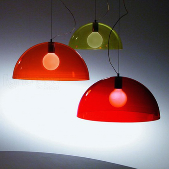 Suspension bubbles rouge o45cm martinelli luce normal