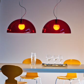Suspension bubbles rouge o55cm martinelli luce normal