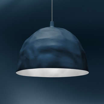 Suspension bump bleu o38cm h52cm foscarini normal