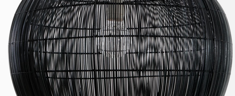 Suspension buri bell l noir o76cm h66cm ay illuminate normal