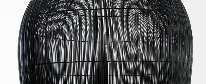Suspension buri bulb l noir o79cm h92cm ay illuminate normal