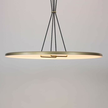 Suspension button 60 blanc bronze led dimmable 2700k o60cm h2 5cm andlight normal