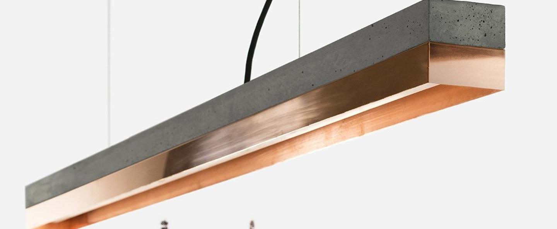 Suspension c1 beton fonce cuivre l122cm h8cm 2700k 2100lm dimmable gantlights copy of 0000000078467 normal