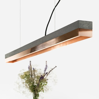 Suspension c1 beton fonce cuivre l122cm h8cm 2700k 2100lm dimmable gantlights copy of 0000000078467 normal