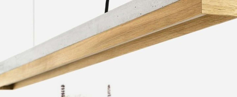 Suspension c1 chene gris l122cm h8cm 4000k 1900lm dimmable gantlights normal