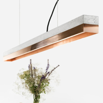 Suspension c1 copper cuivre led l122cm h8cm gantlights normal