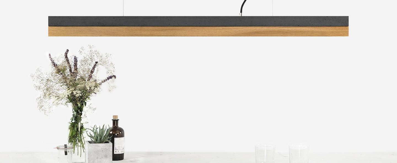 Suspension c1 oak pendant light noir chene h8cm gantlights normal