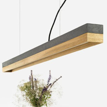 Suspension c1 oak pendant light noir chene h8cm gantlights normal