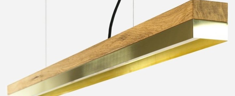 Suspension c1o brass laiton led l122cm h8cm gantlights normal