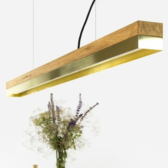 Suspension c1o brass laiton led l122cm h8cm gantlights normal