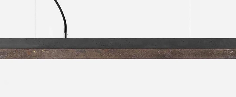 Suspension c2 gris fonce led 2700k 2100lm l92cm h7cm gantlights normal