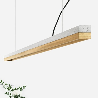 Suspension c3 chene gris clair l182cm h8cm 2700k dimmable gantlights normal