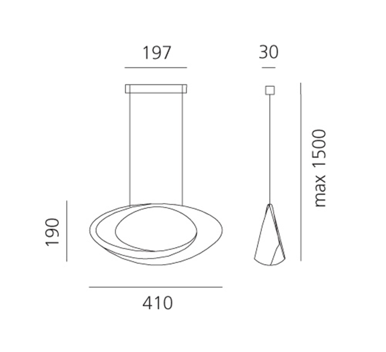 Cabildo eric sole suspension pendant light  artemide 1182w10a  design signed nedgis 127323 product
