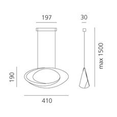 Cabildo eric sole suspension pendant light  artemide 1182w10a  design signed nedgis 127323 thumb
