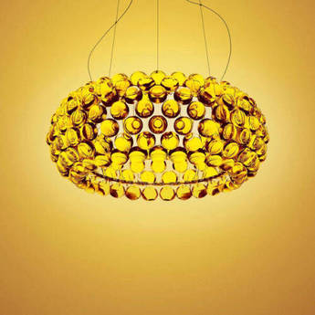 Suspension caboche media or o50cm h20cm foscarini normal