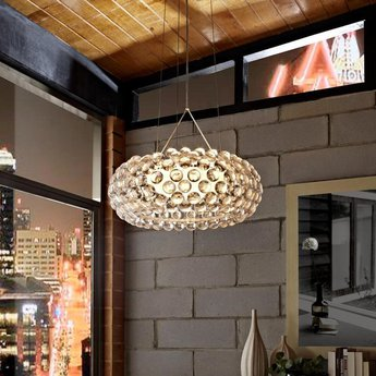 Suspension caboche media transparent o50cm h20cm foscarini normal