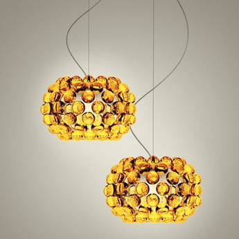 Suspension caboche piccola or o31cm h20cm foscarini normal