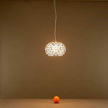 Suspension caboche piccola transparent o31cm h20cm foscarini normal
