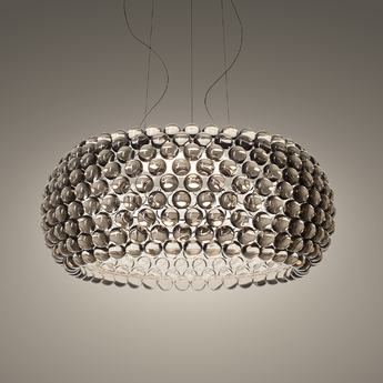 Suspension caboche plus media gris led 2700k 3200lm o50cm h20cm foscarini normal