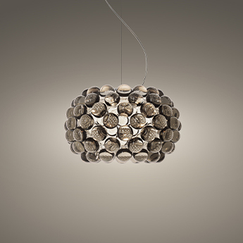 Suspension caboche plus piccola gris led 2700k 1000lm o31cm h20cm foscarini normal