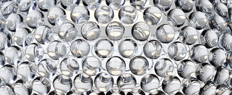Suspension caboche plus piccola transparent led 2700k 1000lm o31cm h20cm foscarini normal