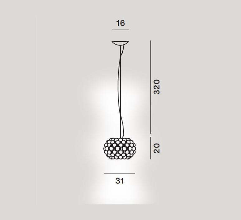 Caboche plus piccola patricia urquiola suspension pendant light  foscarini 311027 16  design signed nedgis 109823 product