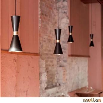 Suspension cairo noir et or o14cm h34cm mullan lighting normal