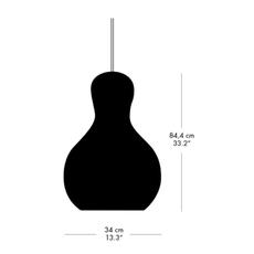Calabash p3 komplot design suspension pendant light  nemo lighting 14023274  design signed nedgis 67160 thumb