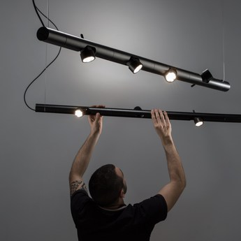 Suspension calabrone noir l133cm martinelli luce normal