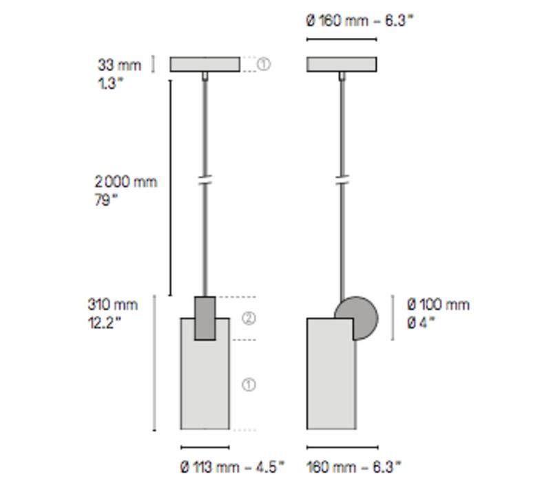 Calee v3  suspension pendant light  cvl calee pendant v3  design signed 53394 product