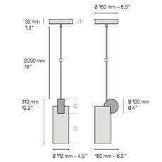 Calee v3  suspension pendant light  cvl calee pendant v3  design signed 53394 thumb