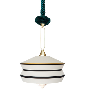 Suspension calypso so antigua blanc o36cm h63cm contardi normal