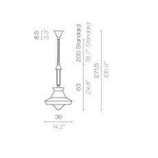 Calypso so guadaloupe servomuto suspension pendant light  contardi acam 002019 p45003  design signed nedgis 86468 thumb