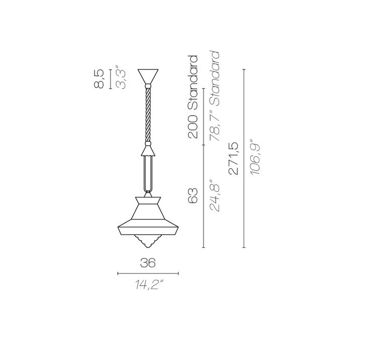 Calypso so guadaloupe servomuto suspension pendant light  contardi acam 002019 p45001  design signed nedgis 86455 product