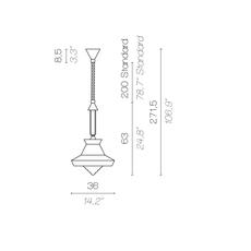 Calypso so guadaloupe servomuto suspension pendant light  contardi acam 002019 p45000  design signed nedgis 86447 thumb