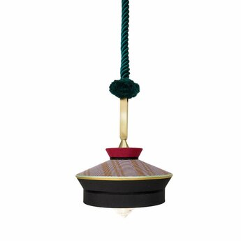 Suspension calypso so martinique noir rouge o39cm h63cm contardi normal