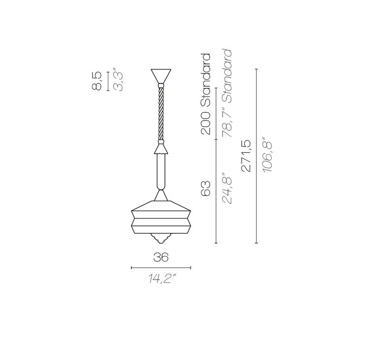 Calypso so outdoor antigua servomuto suspension pendant light  contardi acam 002172  design signed nedgis 88085 product