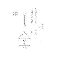 Calypso so outdoor antigua servomuto suspension pendant light  contardi acam 002174  design signed nedgis 88090 thumb