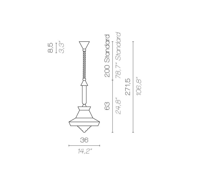 Calypso so outdoor guadaloupe servomuto suspension pendant light  contardi acam 002156  design signed nedgis 88045 product