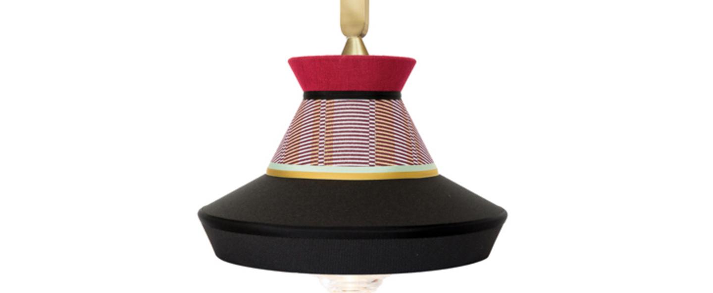 Suspension calypso so outdoor guadaloupe noir rouge ip65 l36cm h63cm contardi normal