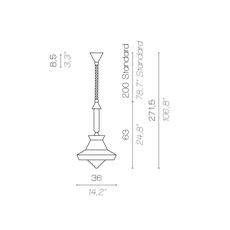 Calypso so outdoor guadaloupe servomuto suspension pendant light  contardi acam 002158  design signed nedgis 88050 thumb