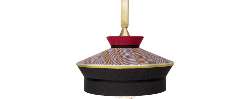 Suspension calypso so outdoor martinique noir rouge ip65 o39cm h63cm contardi normal