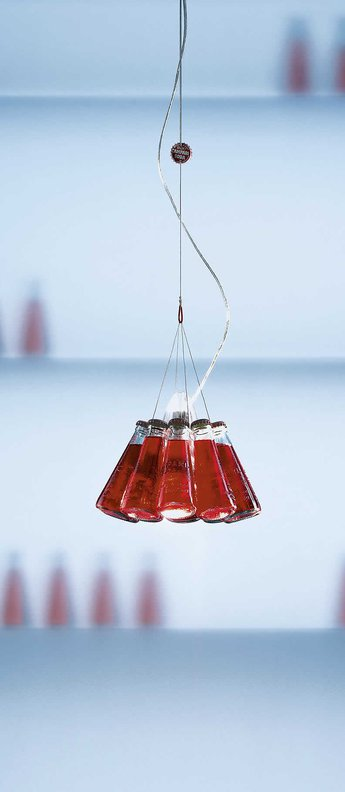 Suspension campari light rouge o23cm h155cm ingo maurer normal